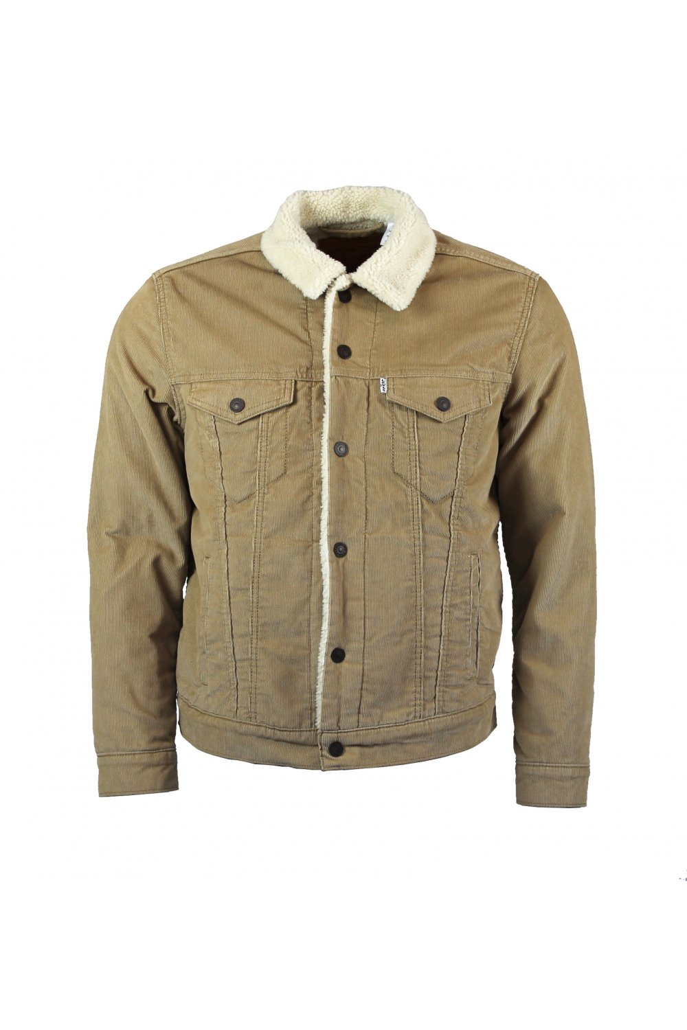 levi 39 s type 3 sherpa trucker jacket beige cord ebay. Black Bedroom Furniture Sets. Home Design Ideas