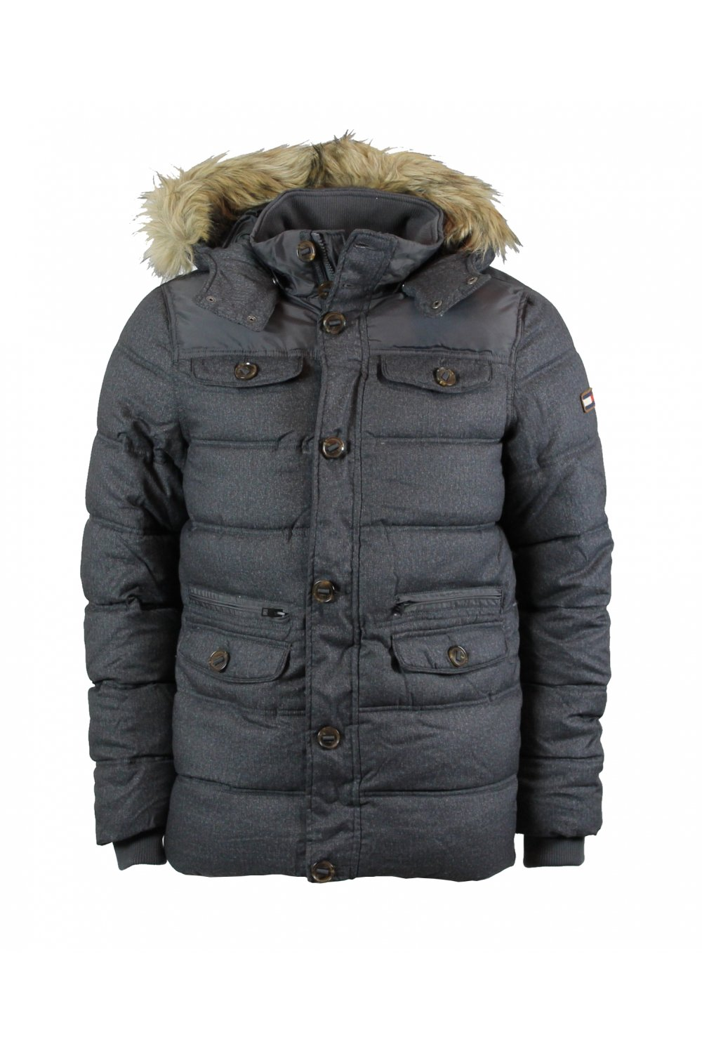 hilfiger denim johnny hd parka jacket tommy black ebay. Black Bedroom Furniture Sets. Home Design Ideas
