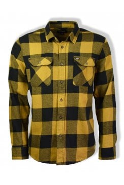 Bowery Long-Sleeved Flannel Shirt (Black/Bronze)