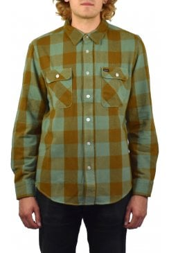 Bowery Long-Sleeved Flannel Shirt (Green Bay)