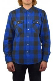 Bowery Long-Sleeved Flannel Shirt (Royal Grey)