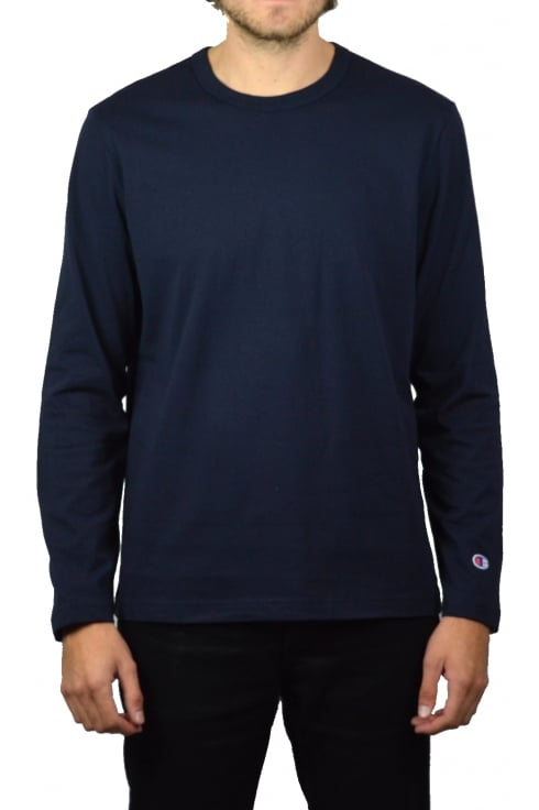 Champion Basic Long-Sleeved T-Shirt (Navy)