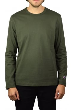 Basic Long-Sleeved T-Shirt (Olive)