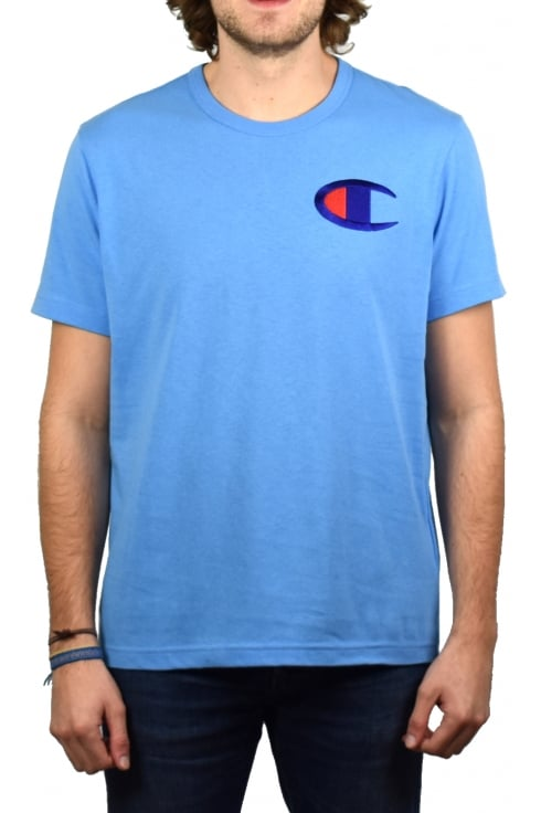 Champion Big C Crew-Neck T-Shirt (Azure Blue)