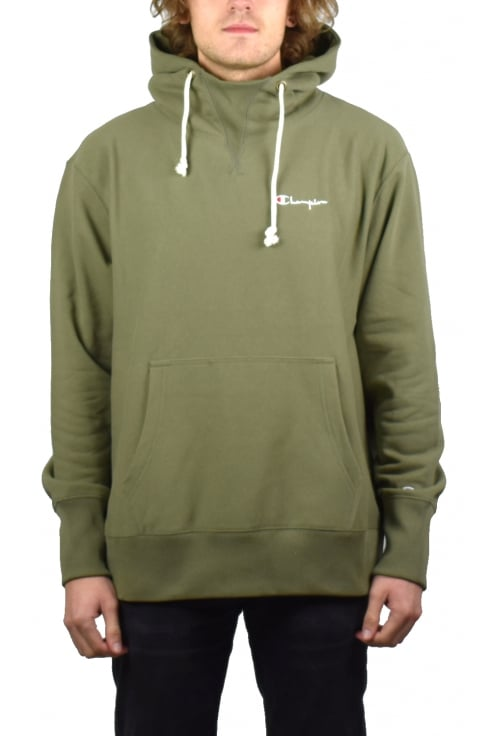 Champion Deconstructed Hooded Sweatshirt (Olive)