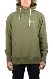 Deconstructed Hooded Sweatshirt (Olive)