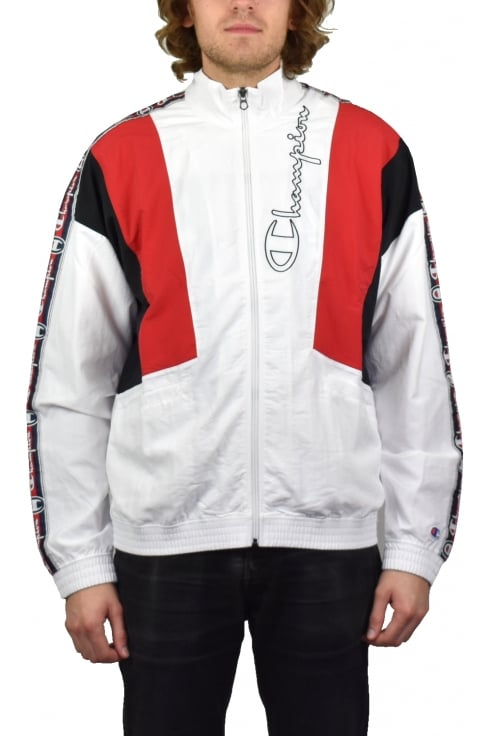Champion Full Zip Track Track Top (White)
