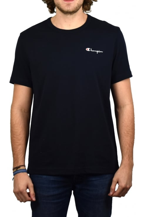 Champion Logo Crew-Neck T-Shirt (Navy)