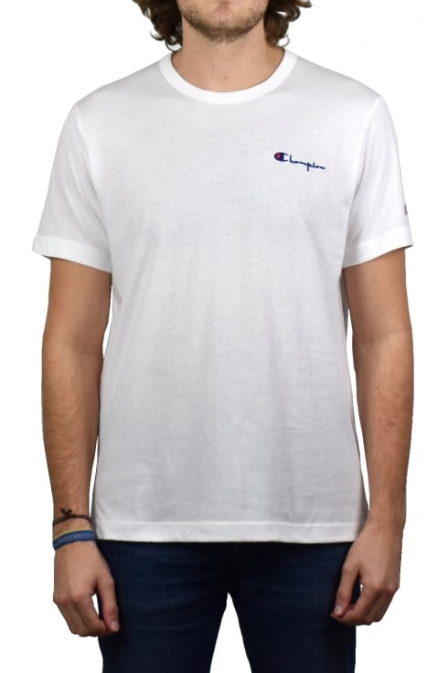 Champion Logo Crew-Neck T-Shirt (White)