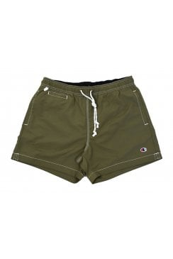 Plain Swim Shorts (Olive)