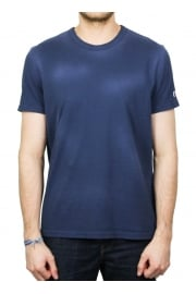 Reverse Weave Garment Dyed T-Shirt (Blue)