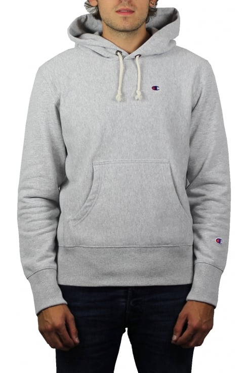 Champion Reverse Weave Hooded Sweatshirt (Grey)