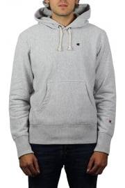 Reverse Weave Hooded Sweatshirt (Grey)