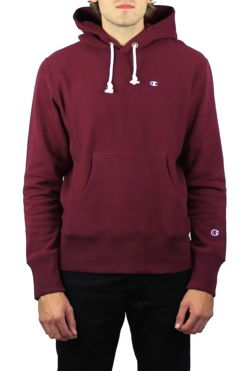 Champion Reverse Weave Hooded Sweatshirt (Maroon)