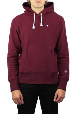 Reverse Weave Hooded Sweatshirt (Maroon)