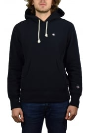 Reverse Weave Hooded Sweatshirt (Navy)