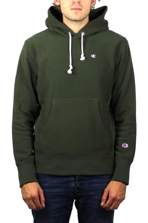 Champion Reverse Weave Hooded Sweatshirt (Olive)