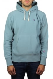 Reverse Weave Hooded Sweatshirt (Pale Blue)