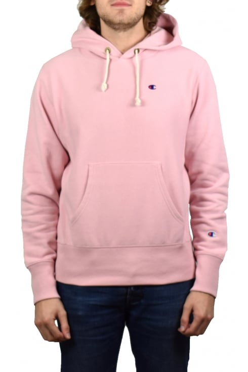 Champion Reverse Weave Hooded Sweatshirt (Pink)