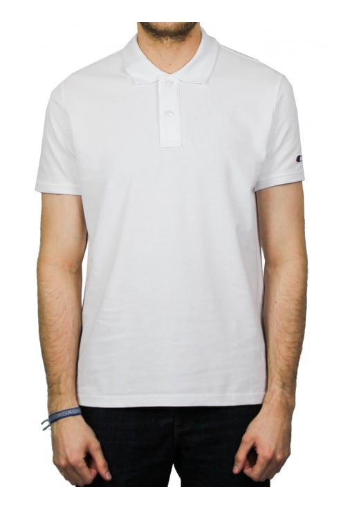 Champion Reverse Weave Short-Sleeved Polo Shirt (White)