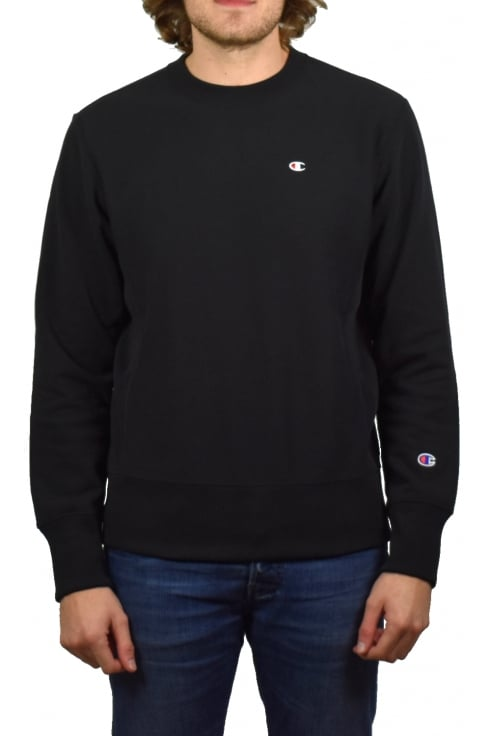 Champion Reverse Weave Sweatshirt (Black)