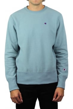 Reverse Weave Sweatshirt (Pale Blue)