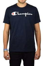 Script Crew-Neck T-Shirt (Navy)