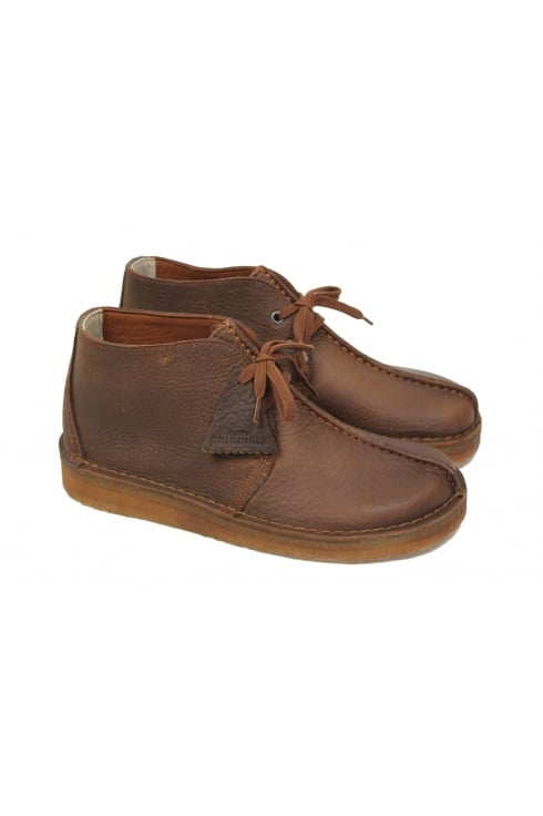 Clarks Originals Desert Trek Hi (Tan Leather)