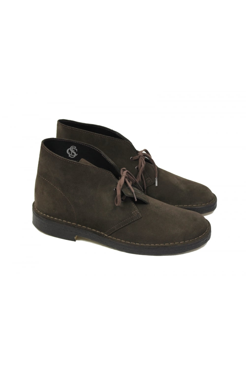 2530addd6ad Clarks Originals Suede Desert Boots (Dark Brown)
