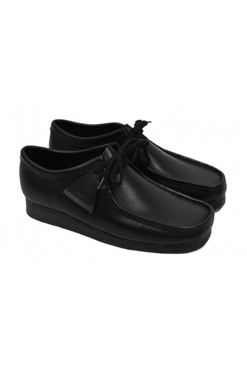 Clarks Originals Wallabee Leather Shoes (Black)