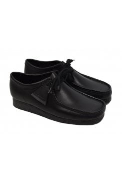 Wallabee Leather Shoes (Black)