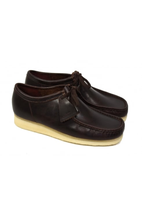 Clarks Originals Wallabee Leather Shoes (Chestnut)