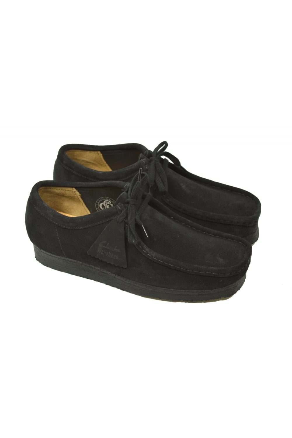 a4a9cb40fa84d2 Clarks Originals Wallabee Shoes (Black Suede) | ThirtySix