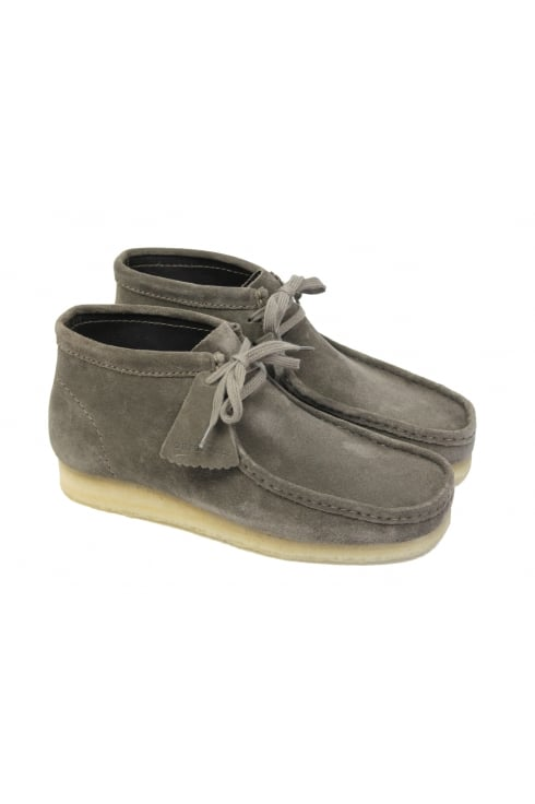 Clarks Originals Wallabee Suede Boots (Grey)