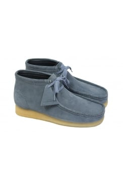 Wallabee Suede Boots (Slate Blue)