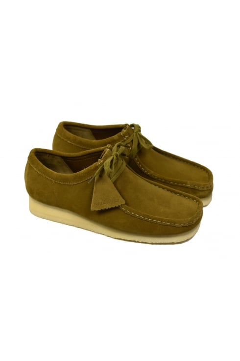 Clarks Originals Wallabee Suede Shoes (Olive)