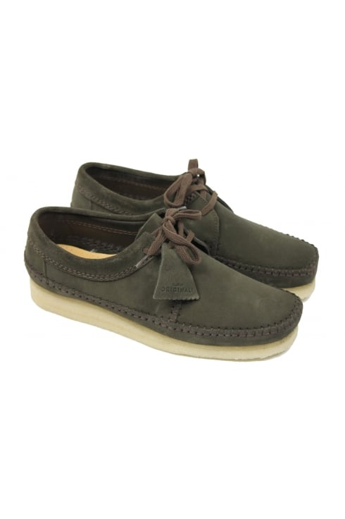 Clarks Originals Weaver Suede Shoes (Peat)