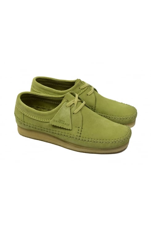 Clarks Originals Weaver Suede Shoes (Sage)