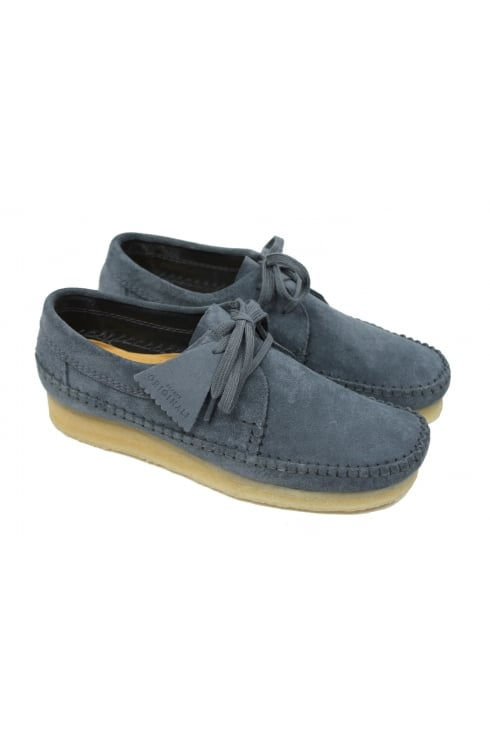 Clarks Originals Weaver Suede Shoes (Slate Blue)