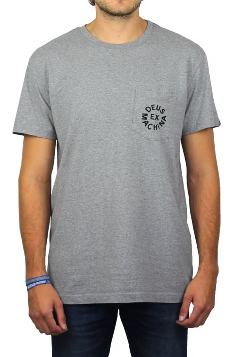 Deus Ex Machina Deus Logo Short-Sleeved T-Shirt (Grey Marl)