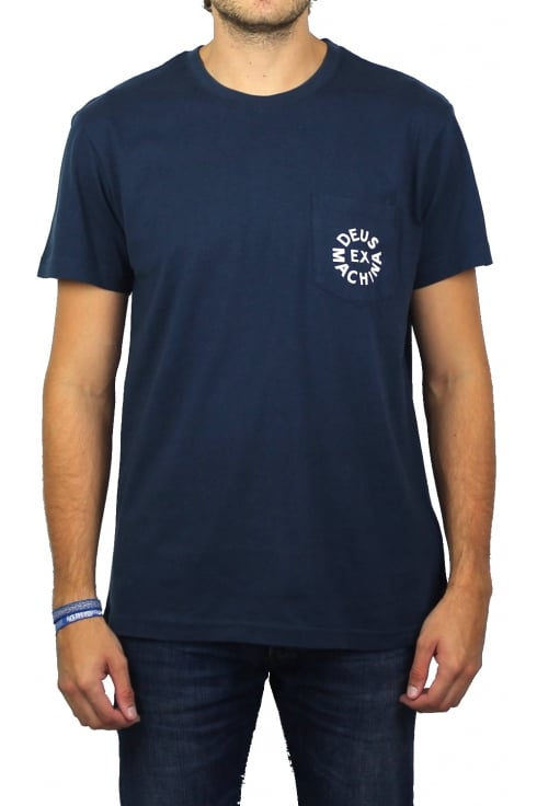 Deus Ex Machina Deus Logo Short-Sleeved T-Shirt (Navy)