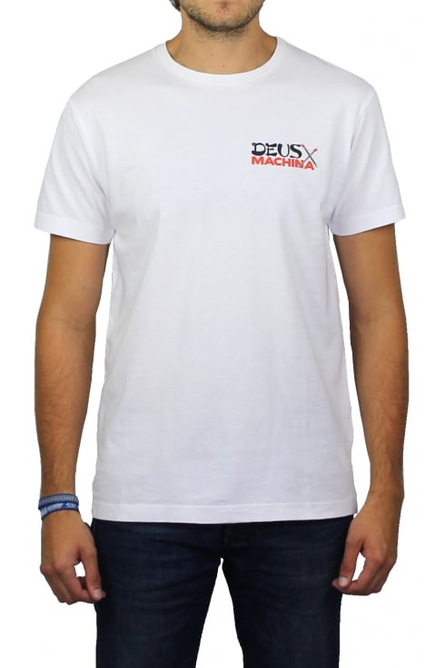 Deus Ex Machina Double Happy Short-Sleeved T-Shirt (White)