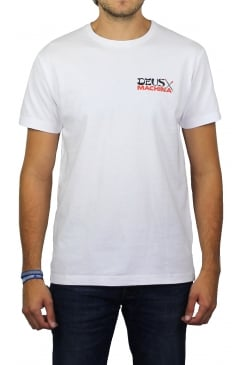 Double Happy Short-Sleeved T-Shirt (White)