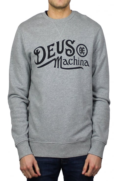 Deus Ex Machina Engine Crew Sweatshirt (Grey Marl)