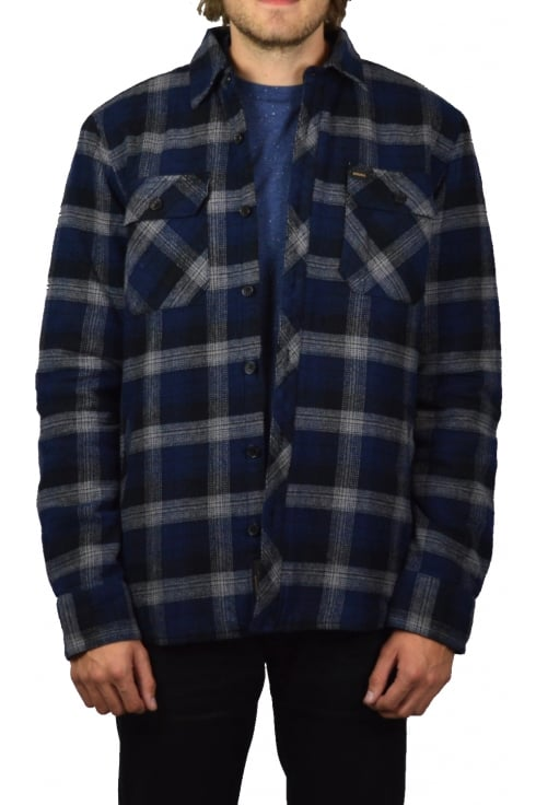 Deus Ex Machina Maxwell Plaid Overshirt (Navy Plaid)