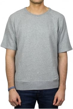 Short-Sleeved Warm Up Sweatshirt (Grey Marl)