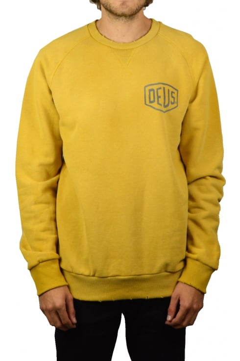 Deus Ex Machina Sunbleached Milano Crew Sweatshirt (Gold)