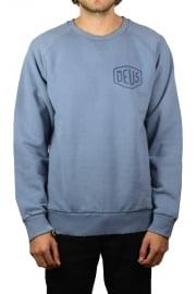Sunbleached Milano Crew Sweatshirt (Steel Blue)