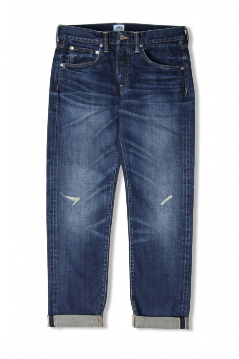 Edwin ED-55 Regular Tapered 63 Rainbow Selvage Jeans (Blue Contrast Dark Wash)
