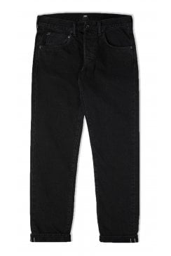 ED-55 Regular Tapered Red Selvage Black Jeans (Ragny Wash)
